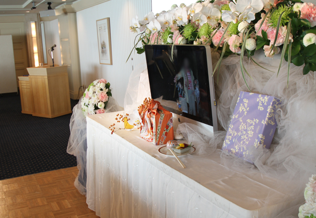 サンプラお別れ会花祭壇2